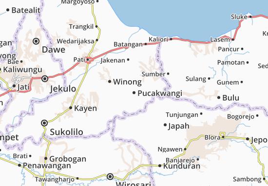 Pucakwangi Map