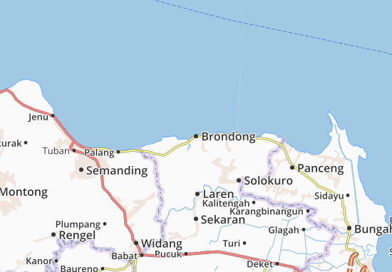 Brondong Map