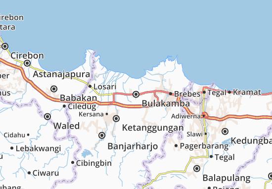Bulakamba Map