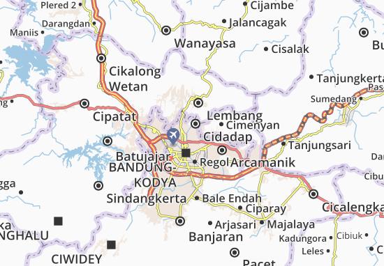 Mapa Coblong