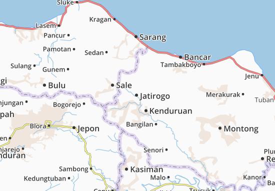 Jatirogo Map