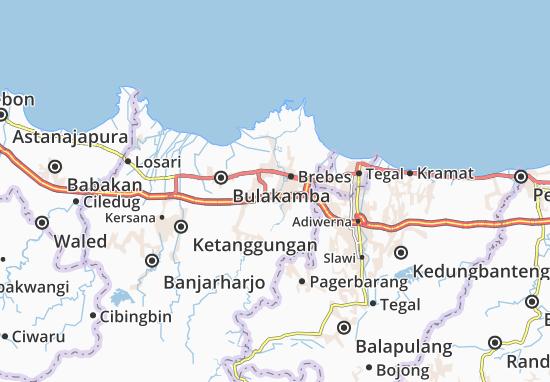 Wanasari Map