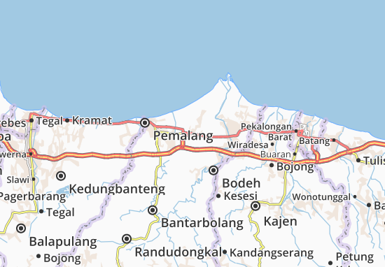 Petarukan Map
