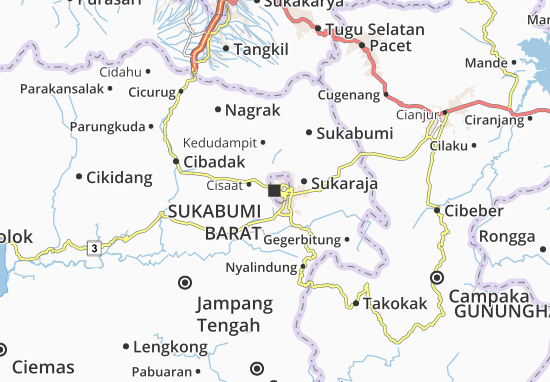Mapa Sukabumi Barat