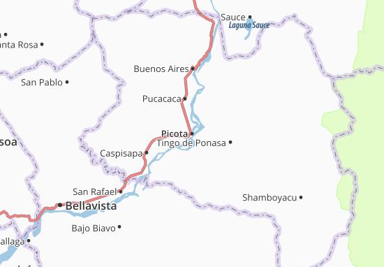 Kaart Plattegrond Picota