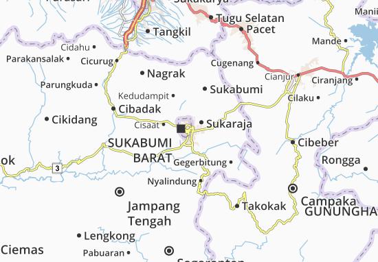 Mapa Sukabumi-Kodya