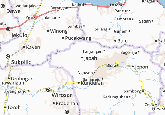 Japah Map