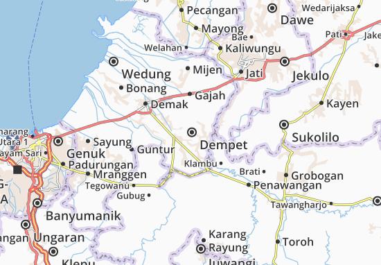 Dempet Map