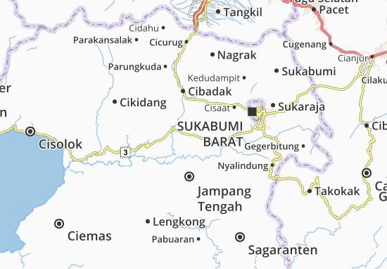 Cikembar Map