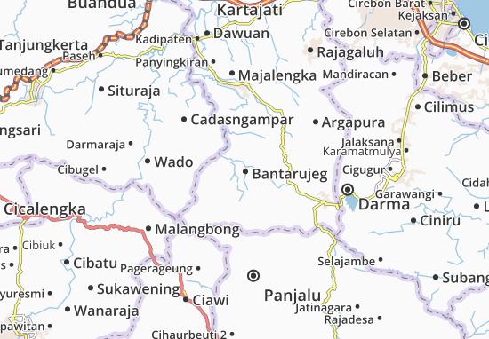 Bantarujeg Map