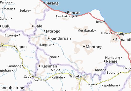 Singgahan Map