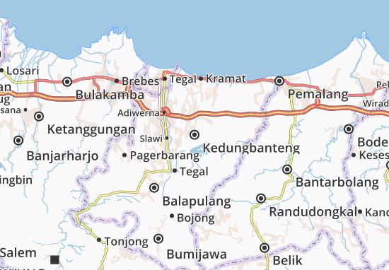 Kedungbanteng Map