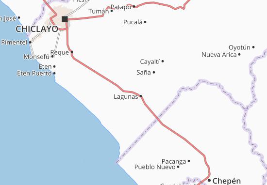 Kaart Plattegrond Lagunas