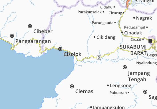 Pelabuhan Ratu Map