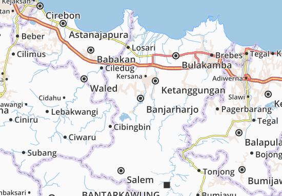Kaart Plattegrond Banjarharjo