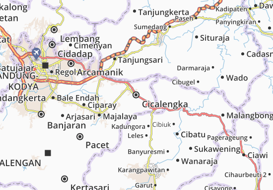 Carte-Plan Cicalengka