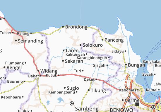 Karanggeneng Map