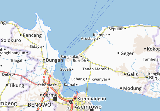 Cartina Indonesia Dettagliata.Mappa Michelin Bangkalan Pinatina Di Bangkalan Viamichelin