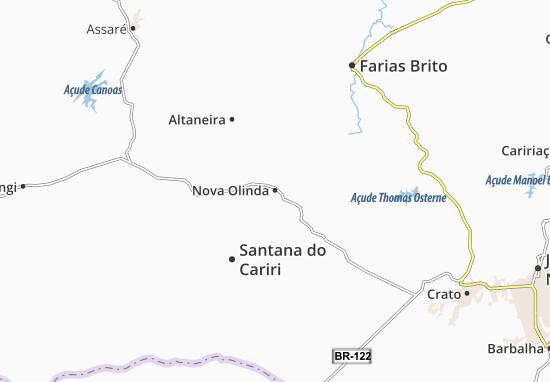 Map Of Nova Olinda Michelin Nova Olinda Map ViaMichelin - Crato map