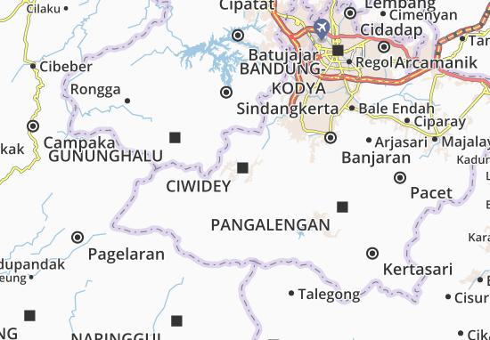 Mapa Ciwidey