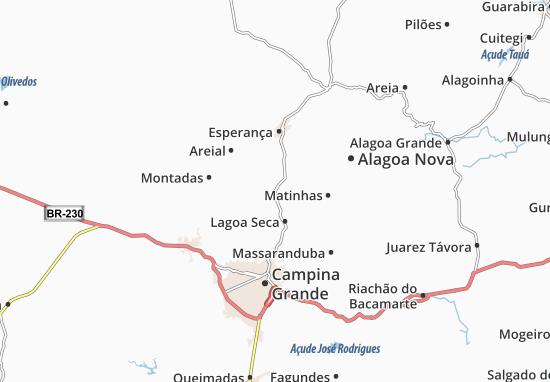 São Sebastião de Lagoa de Roça Map