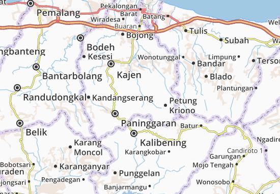 Lebakbarang Map