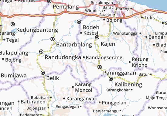 Kandangserang Map
