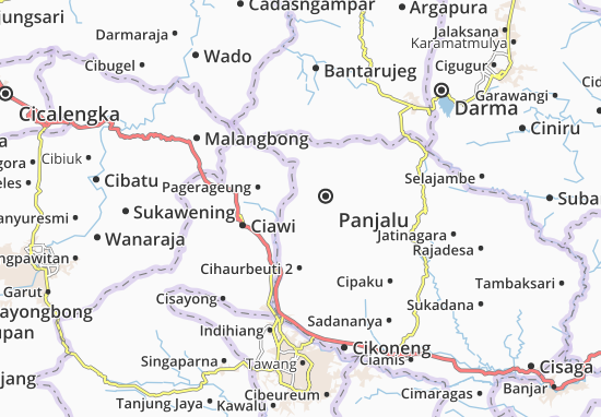 Cihaurbeuti 1 Map