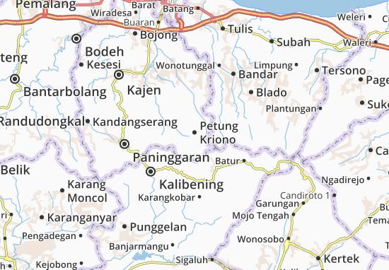 Carte-Plan Petung Kriono