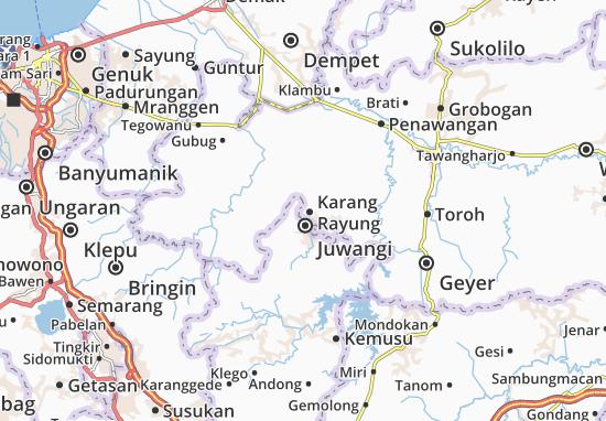 Karang Rayung Map