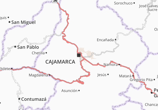 Carte-Plan Cajamarca