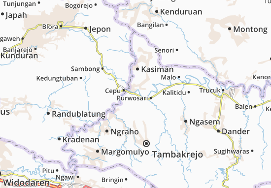 Carte-Plan Padangan