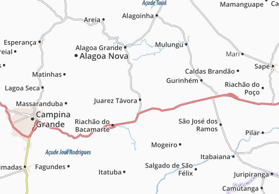 Juarez Távora Map