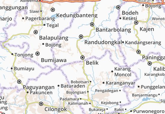 Kaart Plattegrond Belik