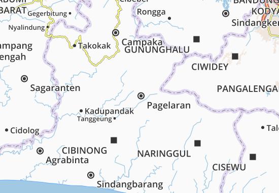 Kaart Plattegrond Pagelaran