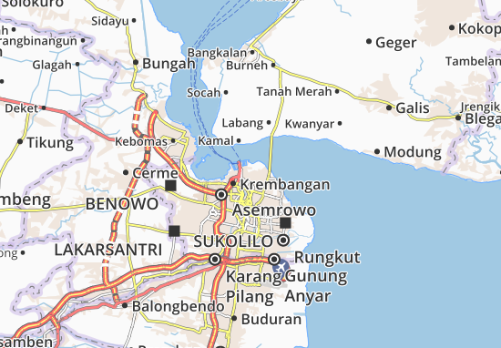 Semampir Map