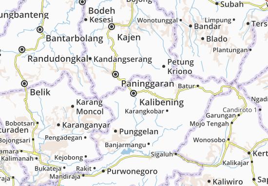 Kalibening Map