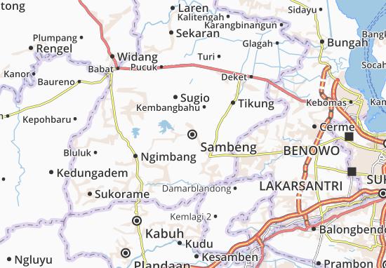 Kaart Plattegrond Sambeng