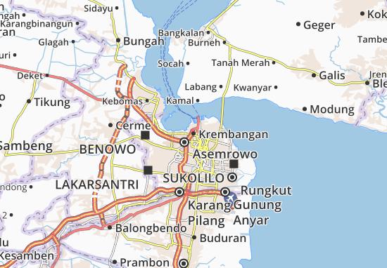 Krembangan Map