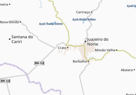 Map Of Crato Michelin Crato Map ViaMichelin - Crato map