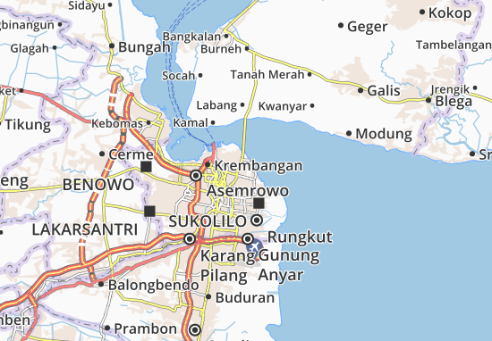 Kenjeran Map