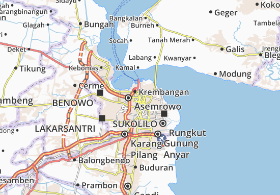 surabaya map detailed maps for the city of surabaya viamichelin surabaya map detailed maps for the