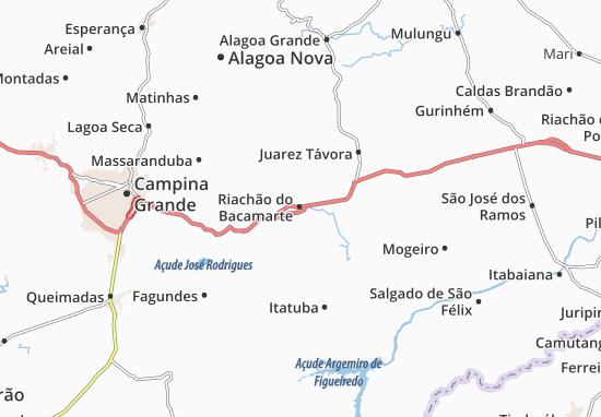 Riachão do Bacamarte Map
