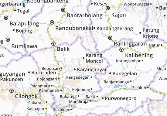 Karang Moncol Map