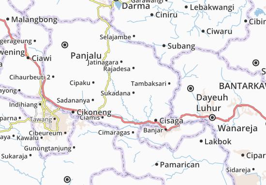 Sukadana Map