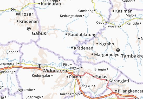 Mappe-Piantine Kradenan