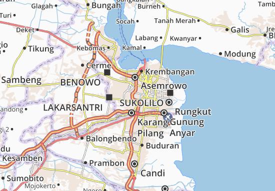 Dukuh Pakis Map