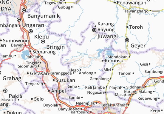Wonosegoro Map