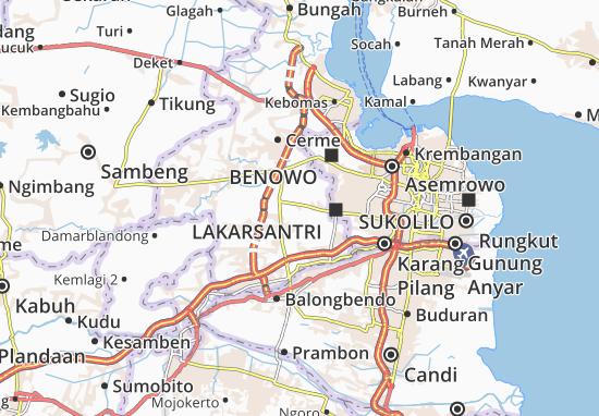 Menganti Map