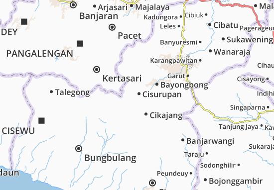 Cisurupan Map